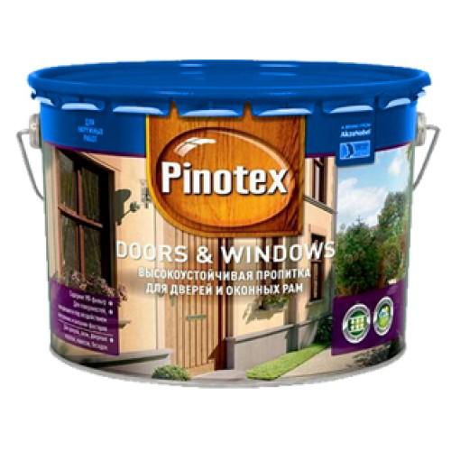 Деревозащитное средство Pinotex Doors Windows Пинотекс Дорс Виндовс